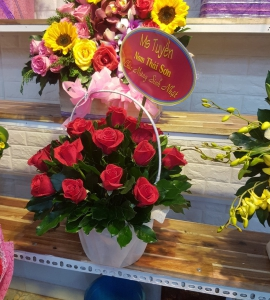 Giỏ Hoa Nồng Thắm Mini LG017