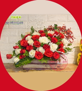 Hoa Giỏ LG103 Ấm Áp Nồng Nàn